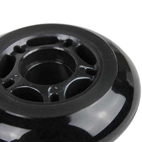 Player's Choice Inline Skate Wheels 80mm 82A Black Outdoor Roller Hockey Rollerblade 10 Pack by Player's Choice (Image #3)