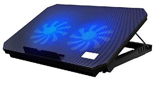Notebook Laptop Kühler S200C blaue LED Lüfter Cooler Cool-Pad | 10 - 17 Zoll | + 2xUSB Hub Cool-Pad Halterung Lüfter Ständer 10 / 11 / 12 / 13 / 14 / 15 / 16 / 17 Zoll Zusatzlüfter für PS2 PS3 PS4 Playstation XBox