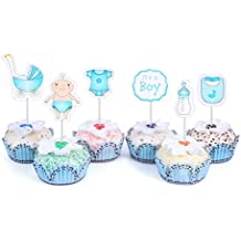 48 Cupcake Toppers Baby Shower, IT'S A BOY