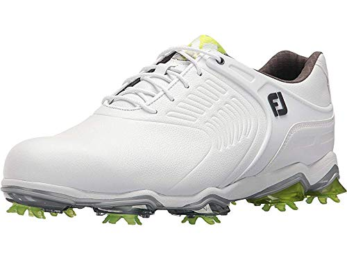 FootJoy Men's Tour S Cleated TPU Saddle Strap All Over White 7.5 WW US by FootJoy