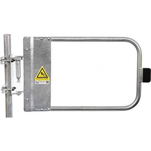 Kee Safety Galvanized Steel Self-Closing OSHA Compliant Safety Gate - Spring Loaded (34-1/2'' - 38'' Wide) by Kee Safety