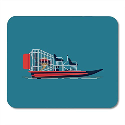 Mouse Pads Boat Cool on Recreational Water Activity and Ecotourism Airboat Fanboat Attraction Engine Mouse pad 9.8