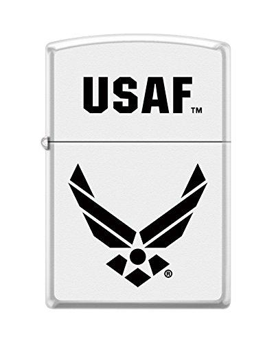 Zippo US Air Force Emblem Pocket Lighter, White Matte