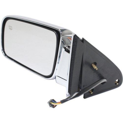 Power Mirror for Chevy C//K Series Pickup 88-02 Left Side Manual Folding Heated Standard Type Chrome Kool Vue CV130CL