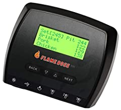 Incorporates a larger LCD display with 4 lines. Monitors up to three meats without the need for Y-cables. Each probe will have a 6-foot cable and connect to the device with a straight audio plug. Probes will be packaged with a cord organizer....