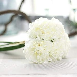 GSD2FF Artificial Flower Hydrangea 5 Heads Peony Bridal Bouquet Silk Flower Wedding Valentine's Day Party Home Decoration,4 2