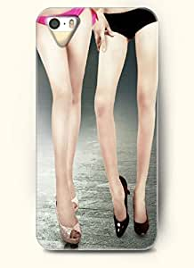 OOFIT Phone Case Design with Two Ladies with Underwears of Different Colors for Apple iPhone 5 5s 5g