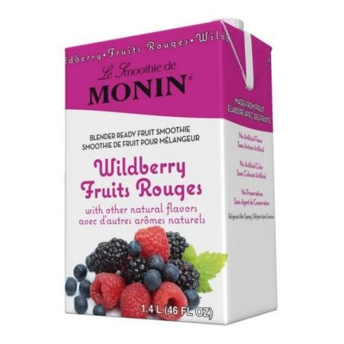 Monin Blender Ready Wildberry Fruit Smoothie Mix, 46 Ounce -- 6 per - Monin Wild Berry