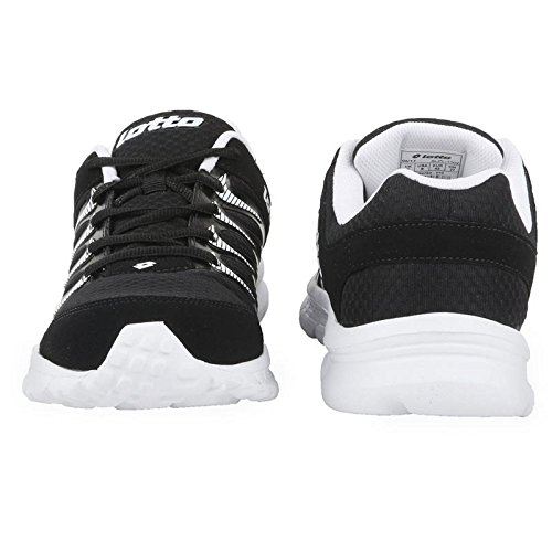3020fa377ba6b Leather Shoes Men Lotto Adriano Black Snicar Running Shoe - 8  Buy Online  at Low Prices in India - Amazon.in