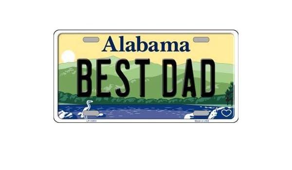 Alabama Background Novelty Metal License Plate