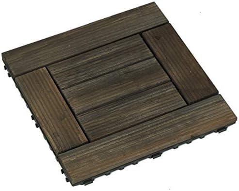 Mitef - Azulejos de madera antideslizantes de fácil instalación para patio, jardín, terraza, baño, ducha, multicolor, 10 unidades: Amazon.es: Bricolaje y herramientas