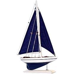 "Hampton Nautical Pacific Sailer Sails Boat, 17"", Blue"