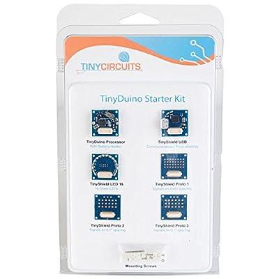 TinyCircuits Lot de 1Ask1002-r-lg-b Tinyduino miniature Compatible Arduino Starter Kit