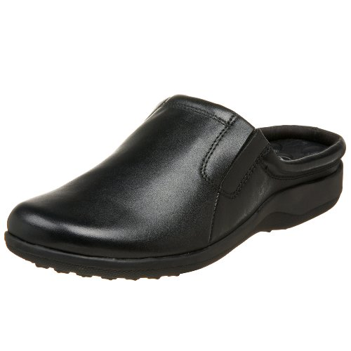 Walking Cradles Women's Adobe Clog Black Leather