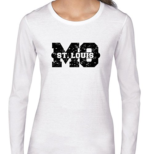 ST. Louis, Missouri MO Classic City State Sign Women's Long Sleeve T-Shirt