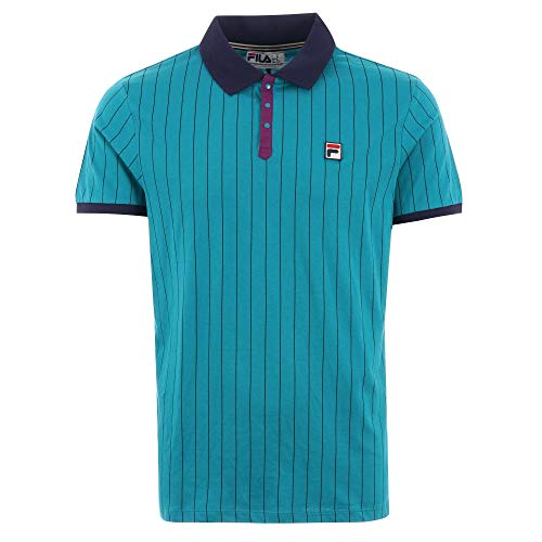 Fila Mens Cotton Striped Polo Shirt