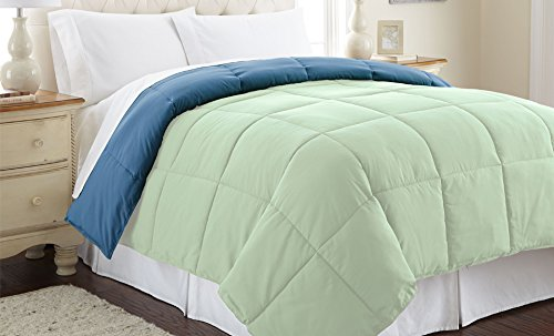 Amrapur Overseas Down alternative reversible comforter Misty Jade/Seaport Queen by Amrapur Overseas