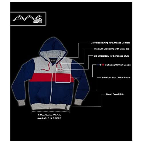 41MD2WMZiWL. SS500  - AWG - All Weather Gear Men's Cotton Hoodie Sweatshirt with Zip
