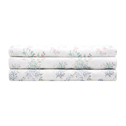Madison Park Floral Full Bed Sheets, Cottage/Country 100% Cotton Bed Sheet, Pink Bed Sheet Set 6-Piece Include Flat Sheet, Fitted Sheet & 4 Pillowcases