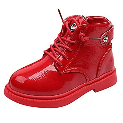 Tronet Kids Martin Sneaker, Children Baby Boys Girls Solid Snow Boots Non-Slip Zip Casual Shoes