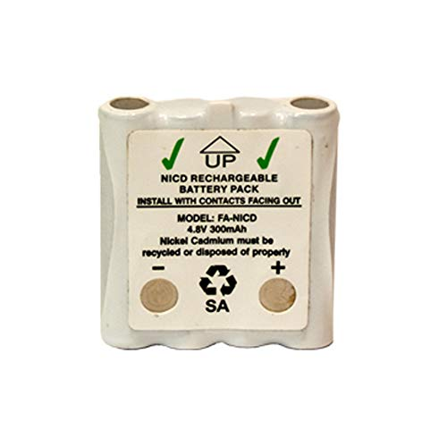 (2 x 4.8 Volt Cobra Replacement 350 mAh NiCd Microtalk Radio Batteries (FRS/GMRS) )