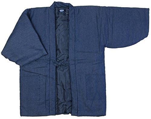 남성 한텐 방한복 남성면 들어감 겉옷(반하늘) 데님반 천감색(네이비) S/M/L/LL사이즈 방한착,에너지 절약,에코,절전신 겉옷