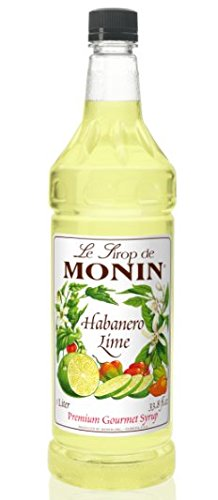 Monin Flavored Syrup, Habanero Lime, 33.8-Ounce Plastic Bottle (1 Liter)