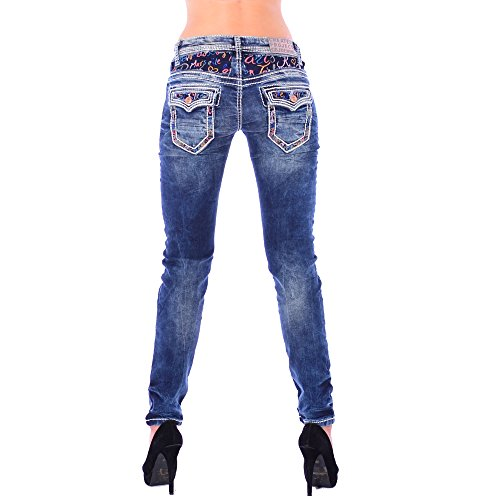 Cipo & Baxx Damen Denim Slim Fit Jeans WD 243 (25/32)