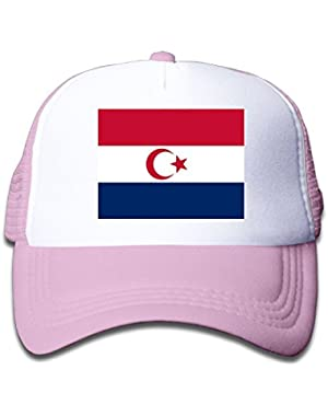 Flag Of The Dutch Islamic Boy & Girl Grid Baseball Caps Adjustable sunshade Hat For Children