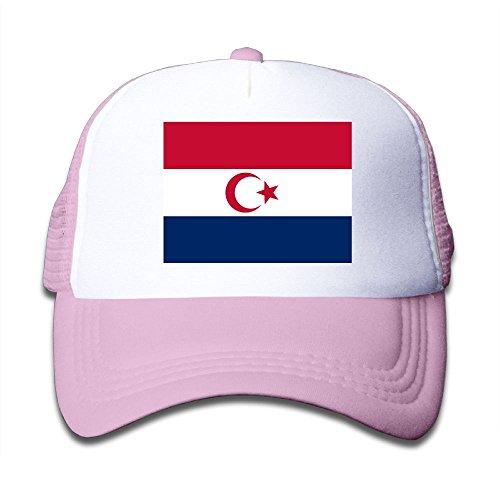 Futong Huaxia Flag Of The Dutch Islamic Boy & Girl Grid Baseball Caps Adjustable sunshade Hat For children