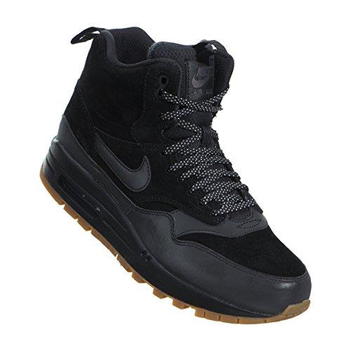 Nike Women's Air Max 1 MID Sneakerboot (11.5, Black/Gum Medium Brown)
