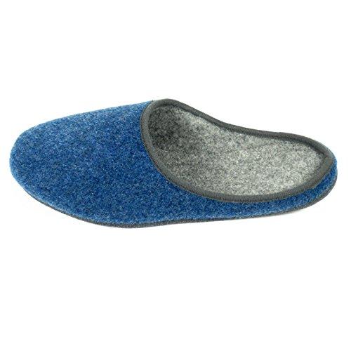 couleurs adulte unisexe Chaussons Feutre Bleu différentes en 1xtq8