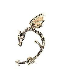 Dragon Electroplating Alloy Earring Ear Clip Unisex Stainless Steel Adjustable Anti-Allergic Phantom Earring (Bronze)