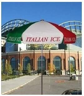 Italian Ice Concession Vendor Cart Umbrella