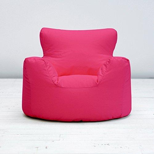 Childrens Kids Fuchsia Pink Cotton Small Chair Seat Beanbag Bean Bag Filled