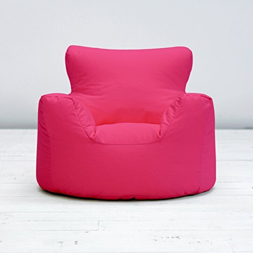 Childrens Kids Fuchsia Pink Cotton Small Chair Seat Beanbag Bean Bag Filled Creative Living