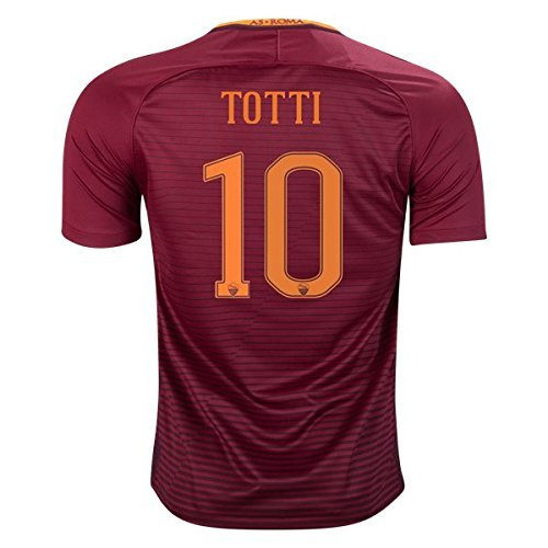 fan products of TOTTI 10 AS Roma Season 2016/2017 Home Soccer Jersey Youth (17-18 years old) Size XL