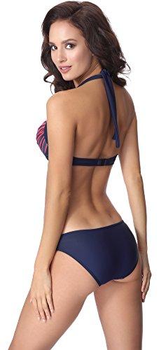aQuarilla Blu Coordinato Navy Donna Fluo Bikini Rosso AQ134 TrxXwaqTdf