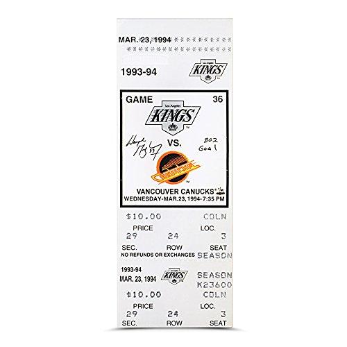 Wayne Gretzky Inscribed 802 GOAL 802 Goal Game Canvas Mega Ticket - Ltd /99
