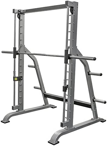 Valor Fitness BE-11 Smith Machine with Olympic Plate Storage Pegs Plus Option to Add BE-11CB Counter Balance Cables