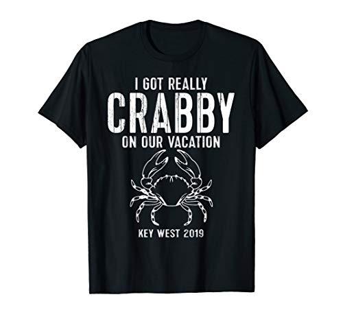 Key West T-Shirt Crab Souvenir Vacation Trip 2019 Tee