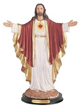 12 Inch Statue Sacred Heart of Jesus Christ Corazon Sagrado de Figurine Figure
