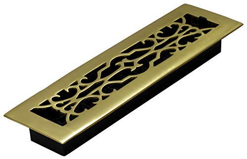 - Decor Grates A214 2-Inch by 14-Inch Victorian Floor Register, Solid Brass