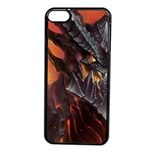 Custom made Case,World of WarCraft-deathwing Cell Phone Case for iPod touch 6,Black Case With Screen Protector (Tempered Glass) Free S-7255334