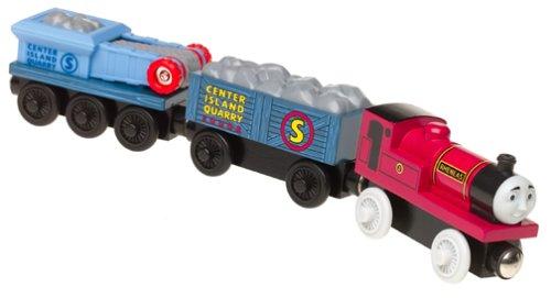 Thomas & Friends Wooden Railway - Rheneas & Rock Crusher Cars - Learning Curve Trains