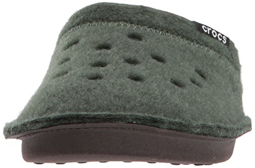 Crocs Unisex Adults Classic Open Back Slippers Forest/Oatmeal lLEexx