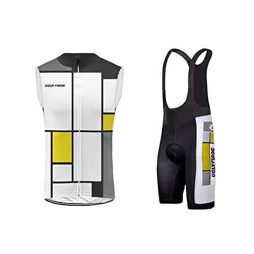 Uglyfrog Men's Cycling Vest Running Vest Sleeves Windproof - Equipe Bib Cycling Short