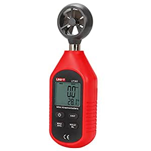 Ul UNI-T ut363Mini Digital Bolsillo Medidor de velocidad del viento anemómetro Digital velocidad temperatura probador termómetro