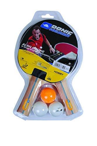 Donic Schildkrot Alan Cooke Hobby Table Tennis Bat Set - Brown by Donic-Schildkroet by Donic-Schildkroet
