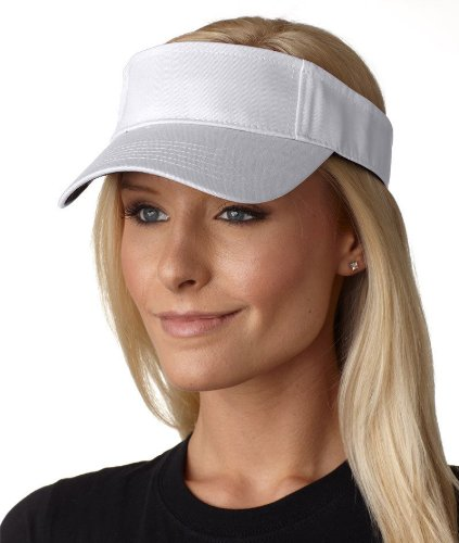 picture of AC101 Adams Ace Vat-Dyed Twill Visor - White - One